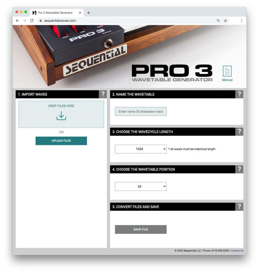 Pro 3 ユーザー・ウェーブ・テーブルの追加機能